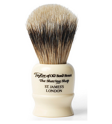 TAYLOR OF OLD BOND STREET Super Badger shaving brush in travel case (Imitation+ivory