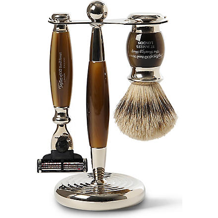 TAYLOR OF OLD BOND STREET Edwardian super badger Mach3 shaving set