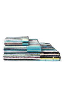 MISSONI HOME Jazz towels blue