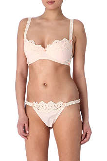 MIMI HOLLIDAY Peachy Cheeks plunge bra set