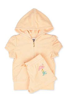 JUICY COUTURE Flamingo Terry hoody and shorts set XS-XL