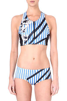 CLOVER CANYON Striped Sculpture bikini