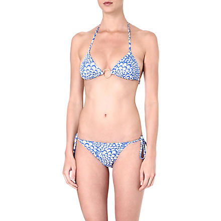 MELISSA ODABASH Miami print triangle bikini