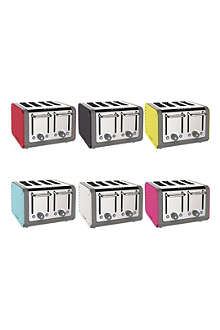 DUALIT Architect four-slice toaster with interchangable colour panels