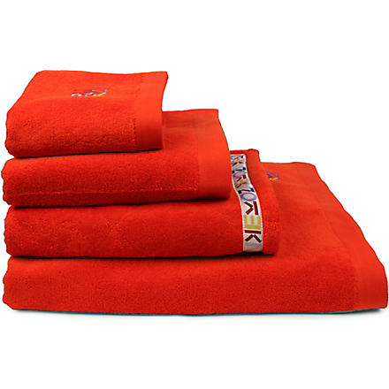 KENZO Cappucine logo towels