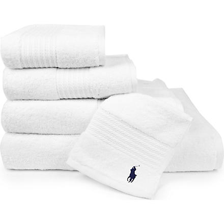RALPH LAUREN HOME Player towels white