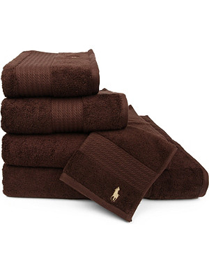 RALPH LAUREN HOME Player towels brown