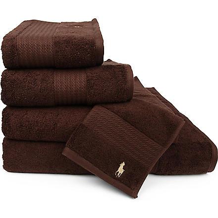 RALPH LAUREN HOME Player towels brown