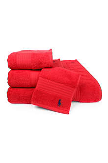 RALPH LAUREN HOME Player towels red