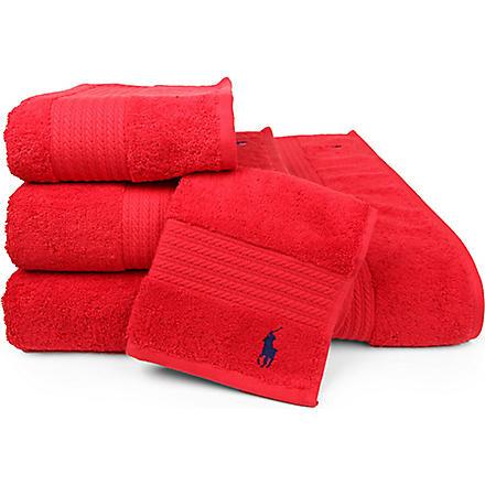 RALPH LAUREN HOME Player towels red