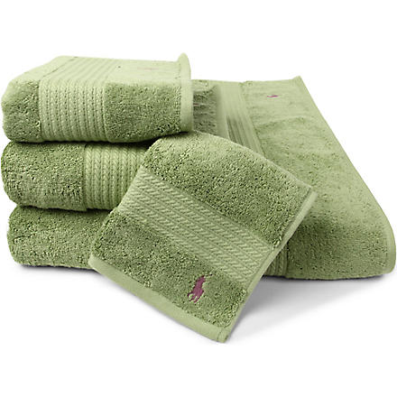 RALPH LAUREN HOME Player towels avocado