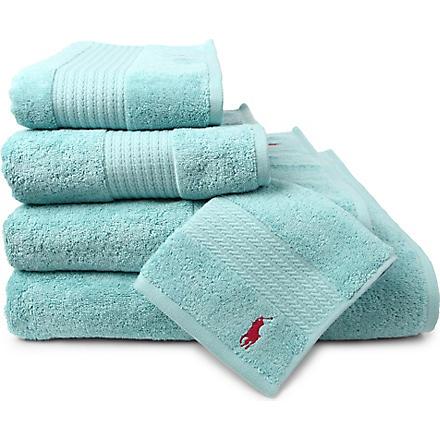 RALPH LAUREN HOME Player towels aqua
