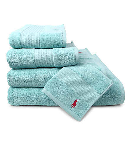 RALPH LAUREN HOME Player towels aqua