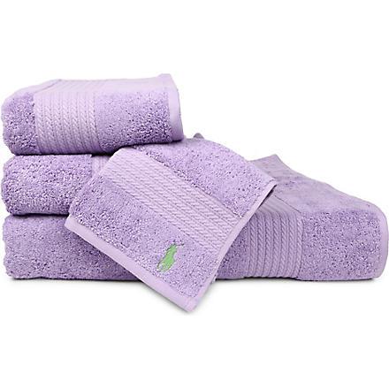 RALPH LAUREN HOME Player towels purple
