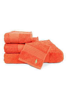 RALPH LAUREN HOME Player towels tangerine