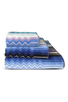 MISSONI HOME Giacomo towels blue