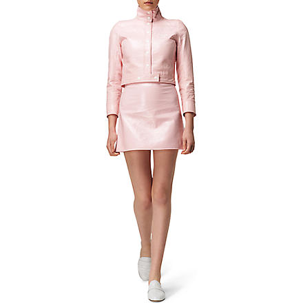 COURREGES Vinyl jacket and skirt