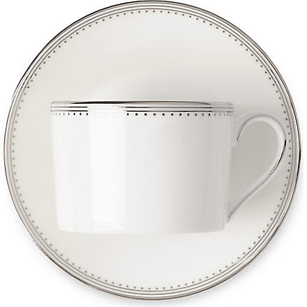 VERA WANG @ WEDGWOOD Grosgrain teacup and saucer