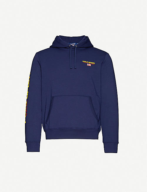 POLO RALPH LAUREN Logo cotton-jersey hoody