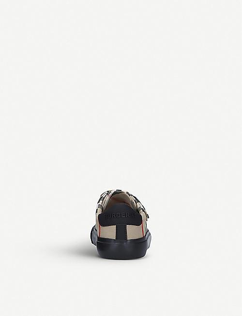 BURBERRY 迷你马克姆格纹印花帆布运动鞋 3-4 岁
