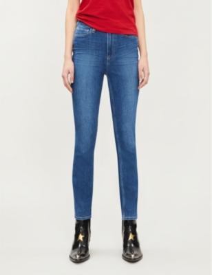 Margot skinny high-rise stretch-denim jeans