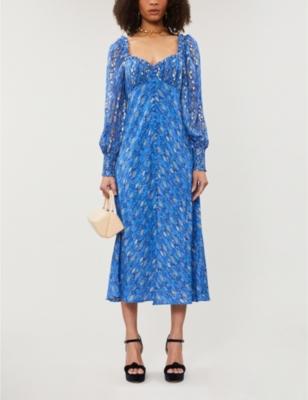 Miriam silk midi dress