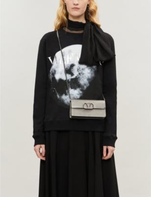 Moon-print cotton-blend jersey sweatshirt