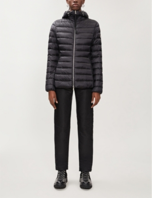 Amethyste padded shell-down hooded jacket