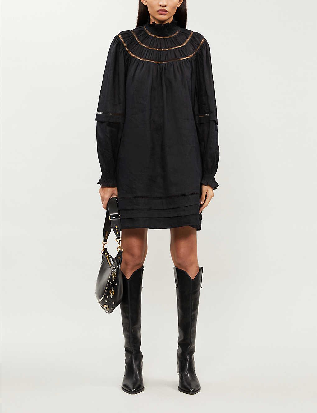 Adenia high-neck linen mini dress(8507116)