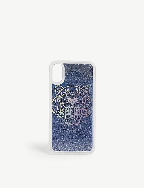 KENZO老虎闪闪发光的iPhone X/XS外壳