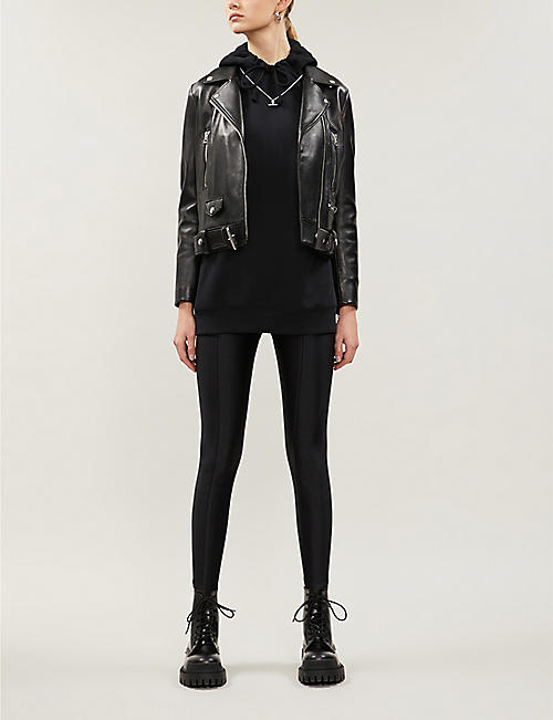 GOOD AMERICAN The High Shine Boss high-rise stretch-jersey trousers