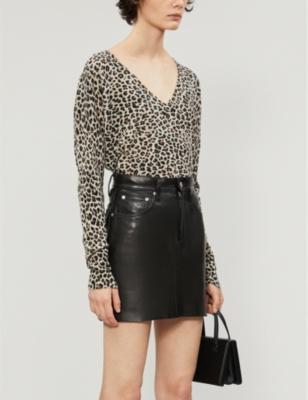 Brume leopard print cashmere jumper