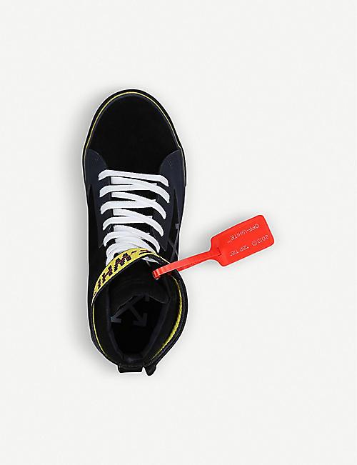 OFF-WHITE C/O VIRGIL ABLOH 硫化皮革和帆布高帮运动鞋