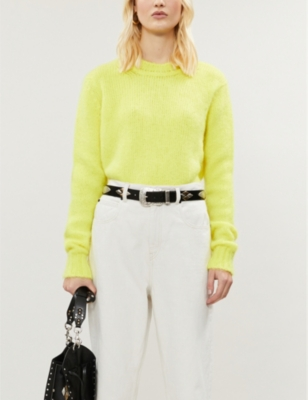 Miel round-neck knitted jumper