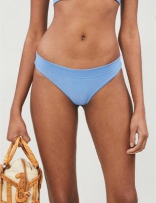 Stevie ribbed low-rise bikini bottoms