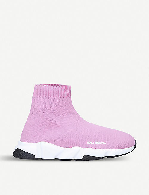 BALENCIAGA Speed slip-on knitted mid-top trainers 3-7 years