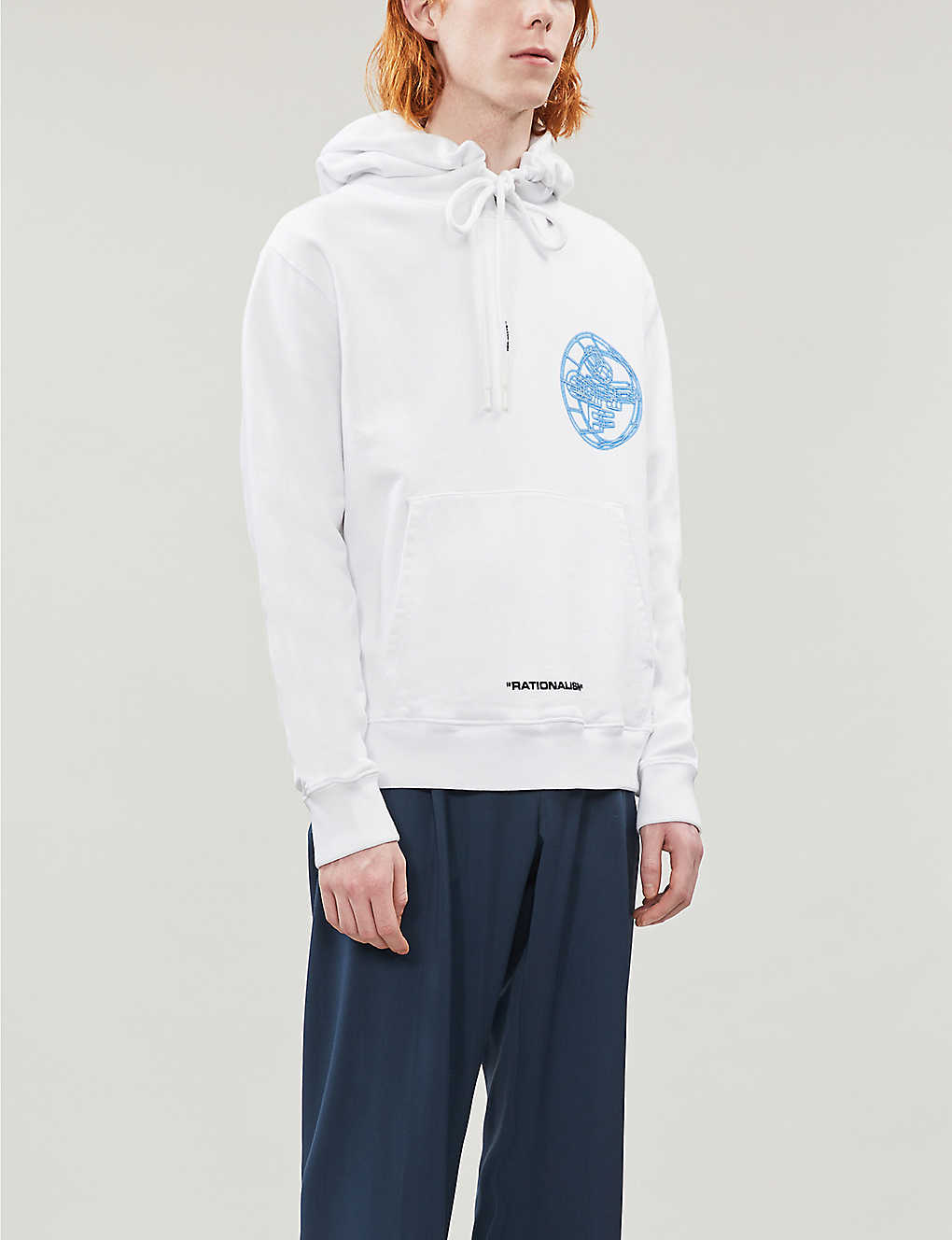 Logo-embroidered cotton-jersey hoody(8504800)
