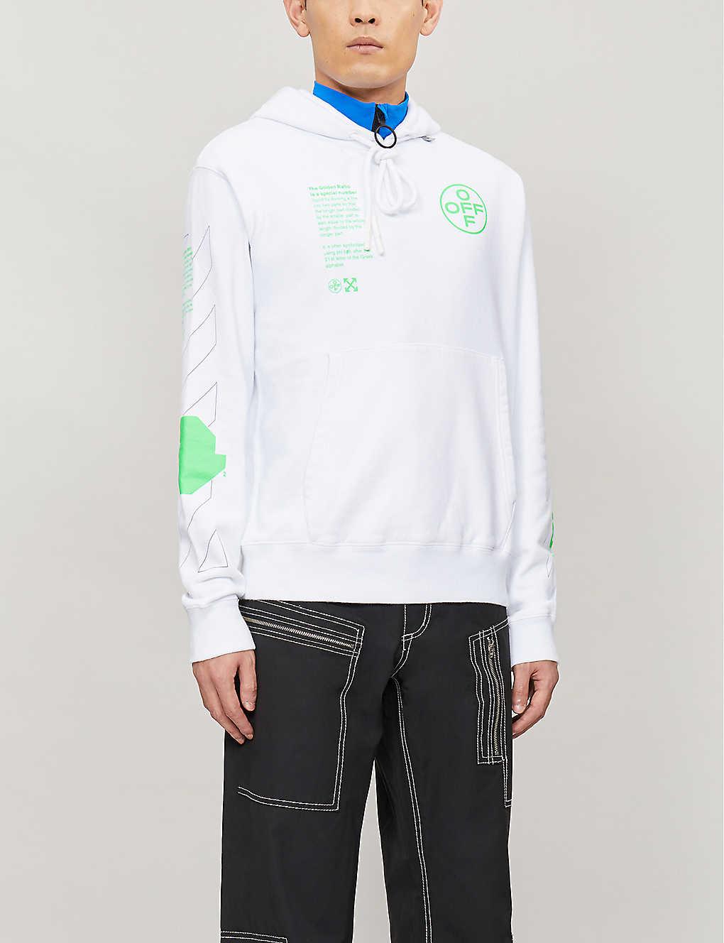 Graphic-print cotton-jersey hoody(8504767)