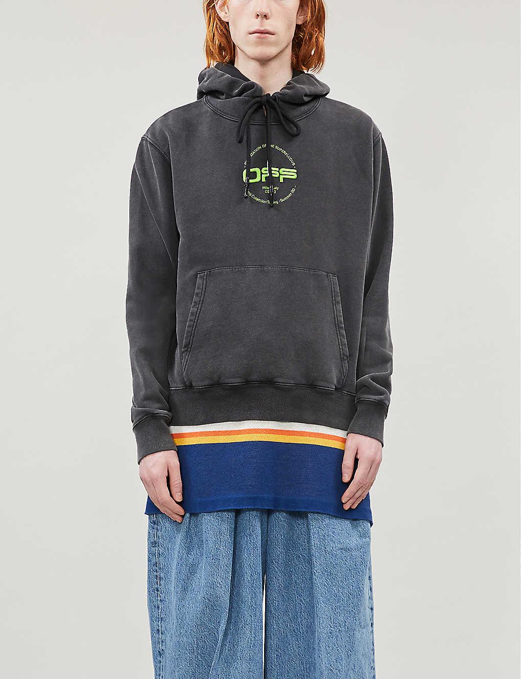 Graphic-print cotton-jersey hoody(8504885)