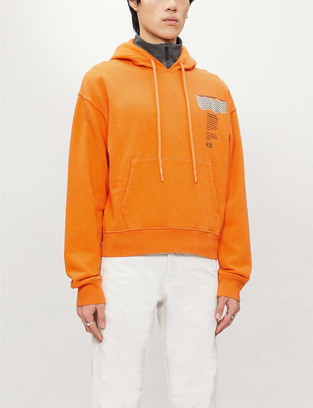 Graphic-print cotton-jersey hoody(8518596)