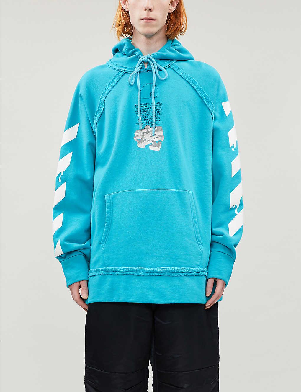 Graphic-print cotton-jersey hoody(8502814)