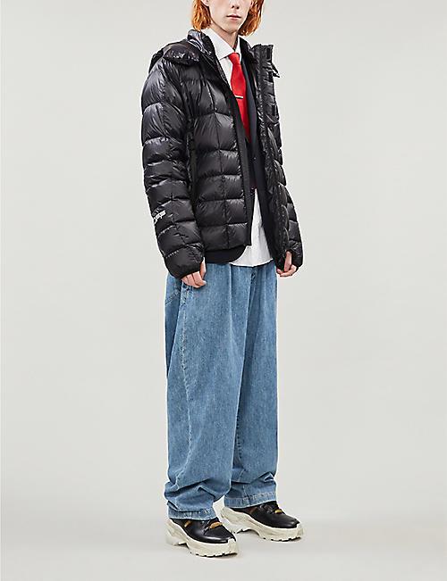 OFF-WHITE C/O VIRGIL ABLOH 衬垫缝制品牌贴面外壳羽绒夹克