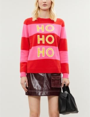 Ho Ho Ho wool and cashmere-blend jumper