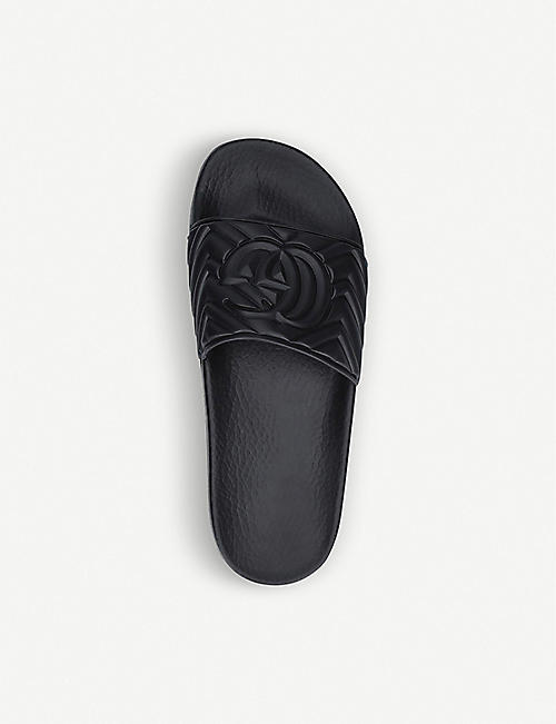 GUCCI Pursuit quilted matelassé rubber sliders