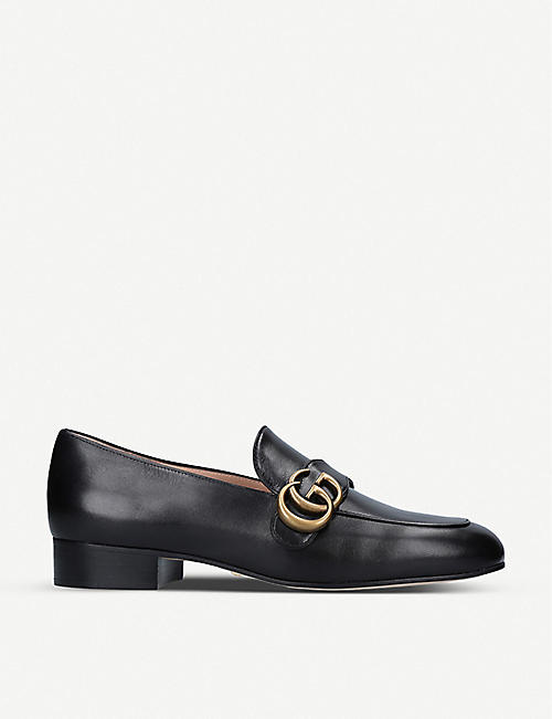GUCCI Marmont logo-detail leather loafers