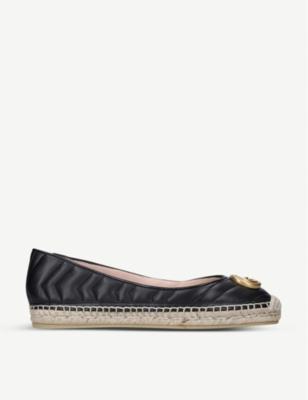 Pilar Ballet quilted leather flatform espadrilles