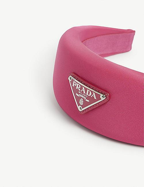 PRADA Triangle logo woven alice band