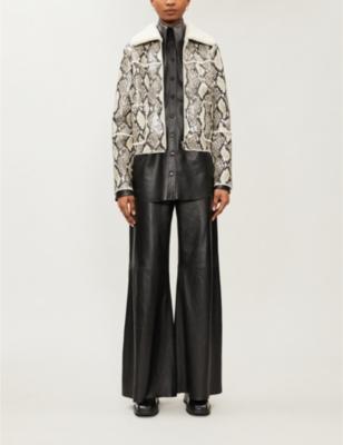 Maj faux-shearling jacket