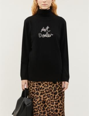 Art cashmere turtleneck jumper