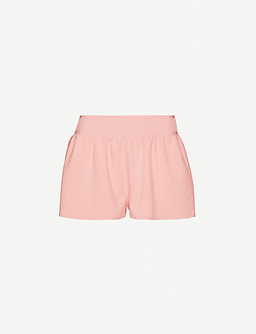 VAARA Stella wide-leg high-rise woven shorts